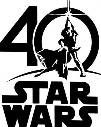 スター・ウォーズ 40周年 アニバーサリー ロゴ