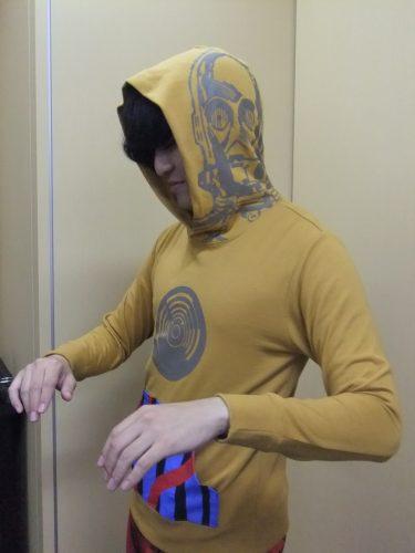 なりきりミニ裏毛パーカ C-3POなりきりミニ裏毛パーカ C-3PO