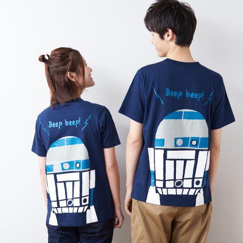 STARWARSのつながるプリントTシャツ