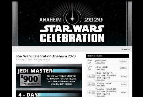 スター・ウォーズ セレブレーション アナハイム 2020 チケット